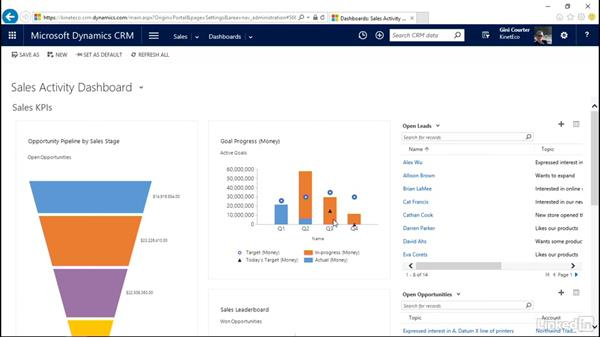 Use Search to locate a record: Microsoft Dynamics CRM Essential Training