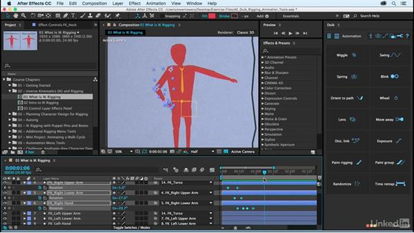 What are inverse kinematics and rigging?: After Effects Duik Rigging & Animation Tools