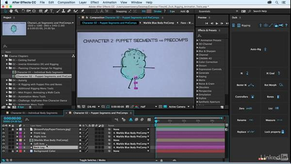 Character design examples: After Effects Duik Rigging & Animation Tools