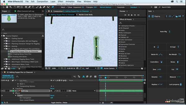 Adding puppet pins to a morph character: After Effects Duik Rigging & Animation Tools