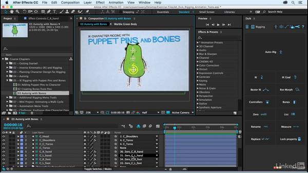 Autorig bones for a full character rig: After Effects Duik Rigging & Animation Tools