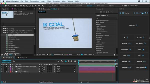 IK goal: After Effects Duik Rigging & Animation Tools