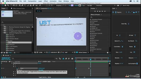 List: After Effects Duik Rigging & Animation Tools