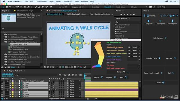 Rigging a character for a walk cycle: After Effects Duik Rigging & Animation Tools