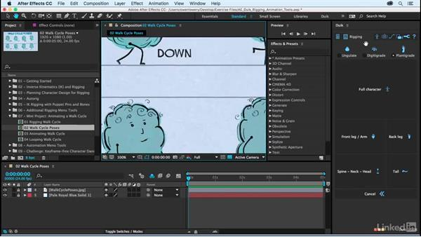 Walk cycle poses: After Effects Duik Rigging & Animation Tools