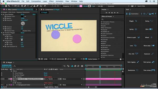 Wiggle: After Effects Duik Rigging & Animation Tools