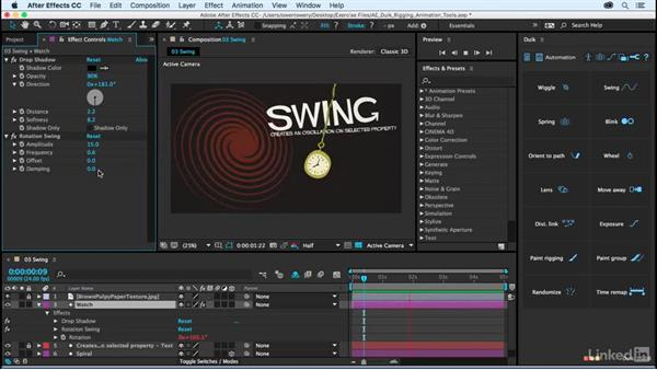 Swing: After Effects Duik Rigging & Animation Tools
