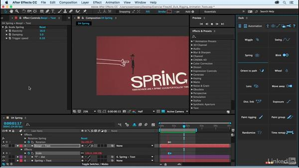 Spring: After Effects Duik Rigging & Animation Tools
