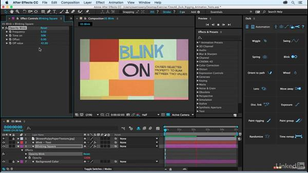 Blink: After Effects Duik Rigging & Animation Tools