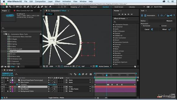 Wheel: After Effects Duik Rigging & Animation Tools