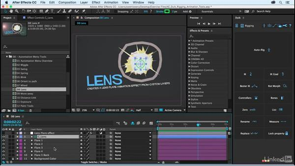 Lens: After Effects Duik Rigging & Animation Tools