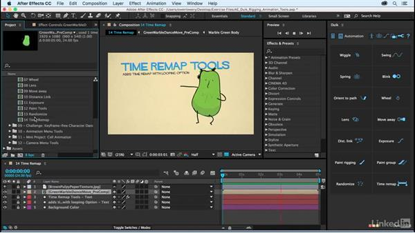 Time remap: After Effects Duik Rigging & Animation Tools