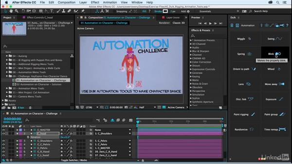 Automation on character rig: Challenge: After Effects Duik Rigging & Animation Tools