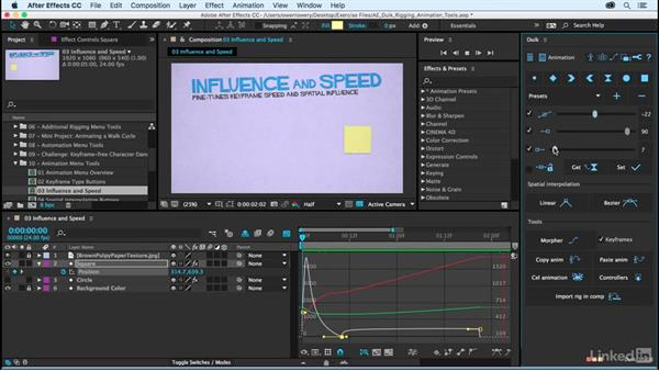 Influence and speed controls: After Effects Duik Rigging & Animation Tools