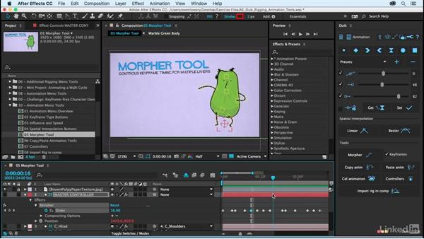 Morpher tool: After Effects Duik Rigging & Animation Tools