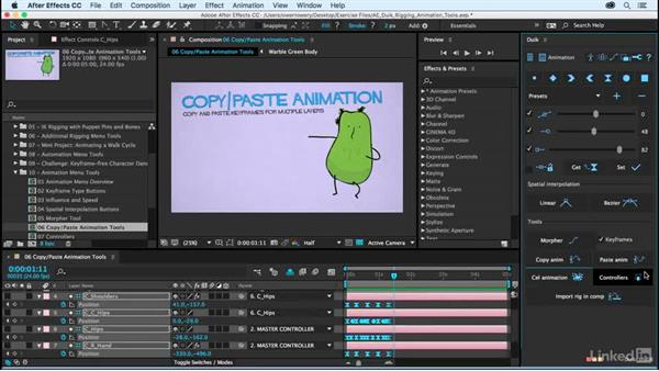 Copy animation and Paste animation tools: After Effects Duik Rigging & Animation Tools