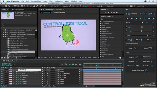 Controllers: After Effects Duik Rigging & Animation Tools