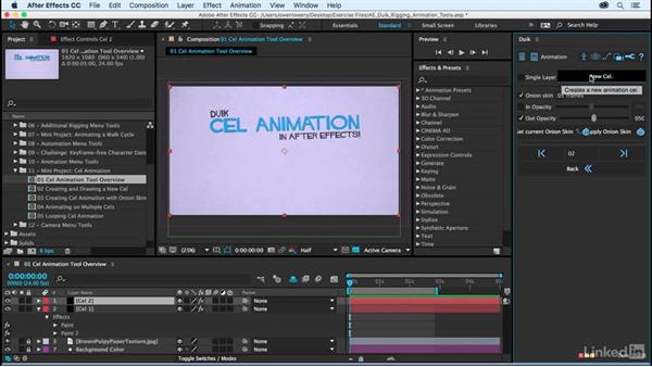 Using the Cel animation tool overview: After Effects Duik Rigging & Animation Tools