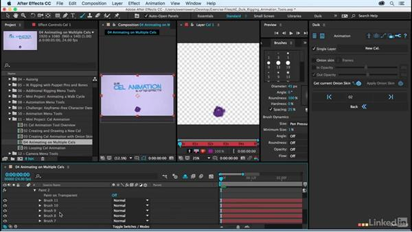 Animating on multiple cels: After Effects Duik Rigging & Animation Tools