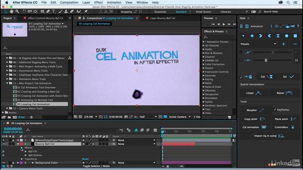 Looping cel animation: After Effects Duik Rigging & Animation Tools