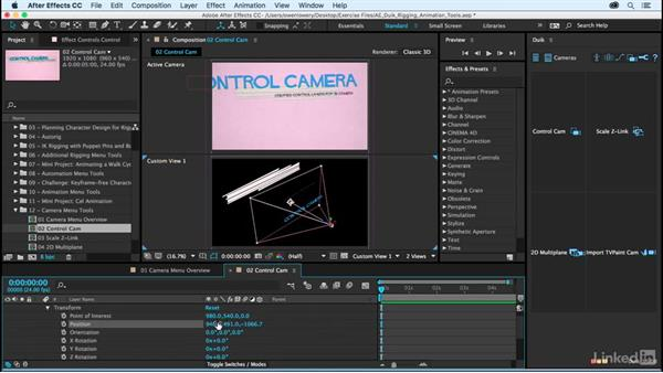 Control Cam: After Effects Duik Rigging & Animation Tools