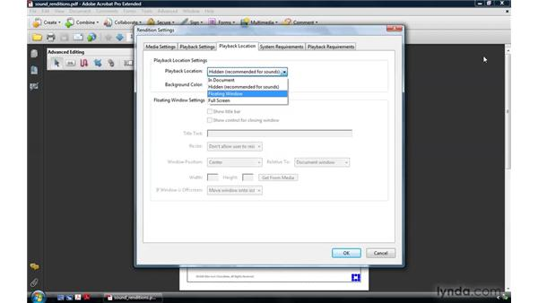 Creating audio renditions: Acrobat 9 Pro: Creating Multimedia Projects