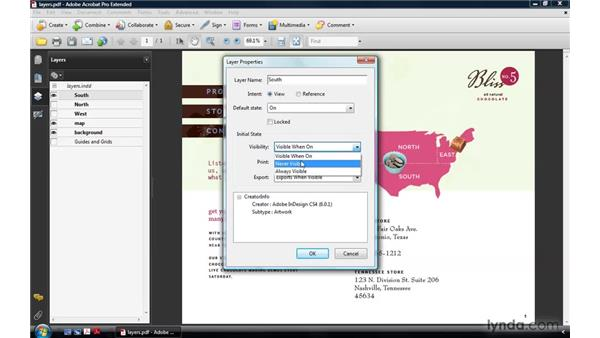 Setting layer properties: Acrobat 9 Pro: Creating Multimedia Projects
