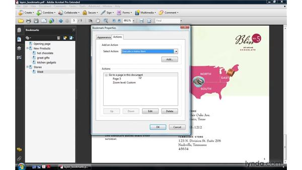 Using bookmarks to interact with layers: Acrobat 9 Pro: Creating Multimedia Projects