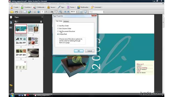 About page actions: Acrobat 9 Pro: Creating Multimedia Projects