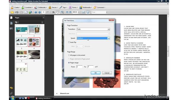 Setting transitions: Acrobat 9 Pro: Creating Multimedia Projects