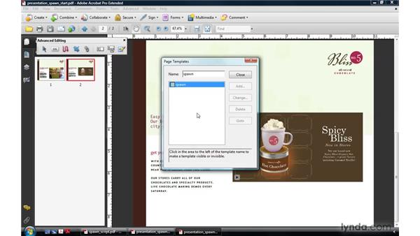 Spawning page templates: Acrobat 9 Pro: Creating Multimedia Projects