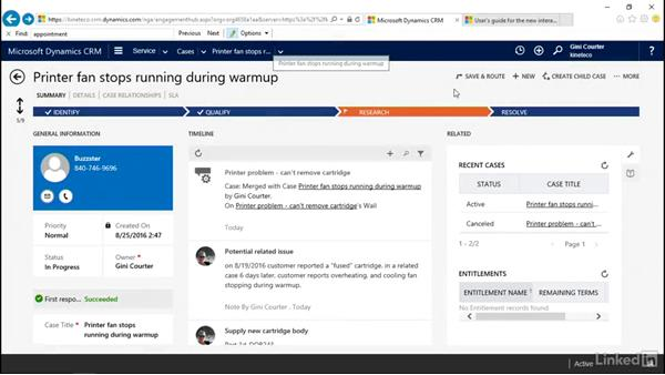 Manage the case record: Microsoft Dynamics CRM: Customer Service