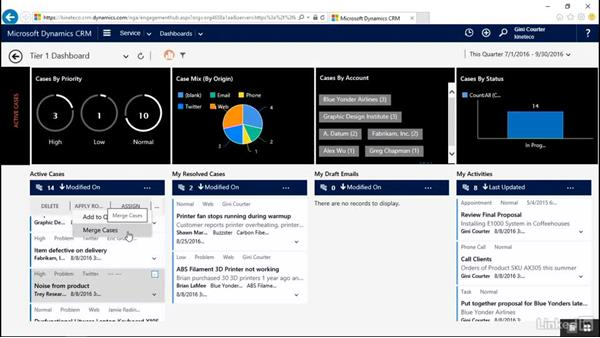 Apply a quick action: Microsoft Dynamics CRM: Customer Service