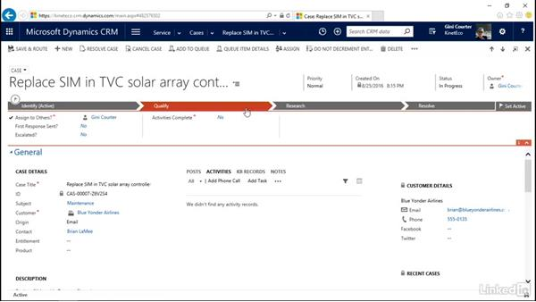 Navigate in the Dynamics CRM web app: Microsoft Dynamics CRM: Customer Service