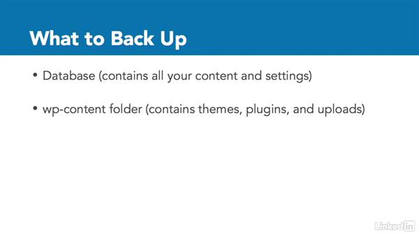 What needs to be backed up?: WordPress: Backing Up Your Site