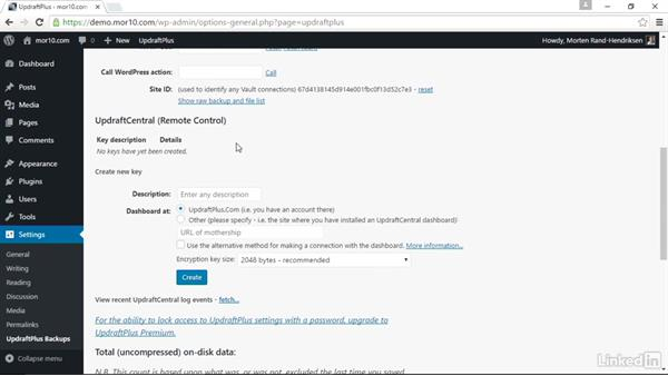 Overview of the UpDraftPlus plugin: WordPress: Backing Up Your Site