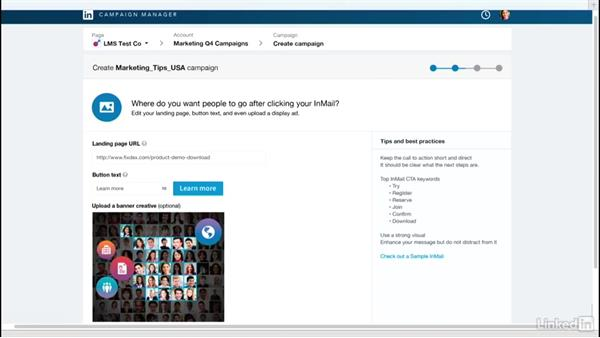 Manage your creative assets: LinkedIn Sponsored InMail
