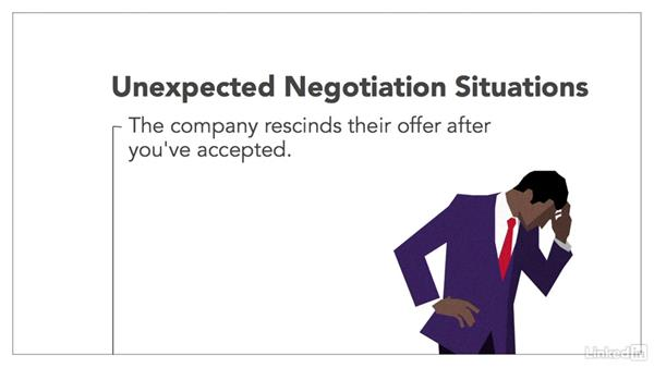 Respond to unexpected situations: Negotiating Your Job Offer