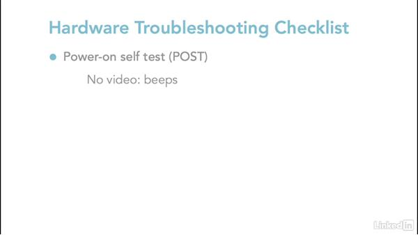 Dealing with startup and POST errors: Troubleshoot Common PC Issues