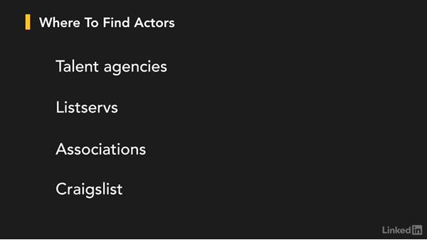 Casting actors: Creating a PSA Commercial