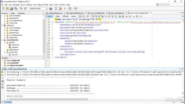 Build the multi-module project: Multi Module Build Automation with Maven