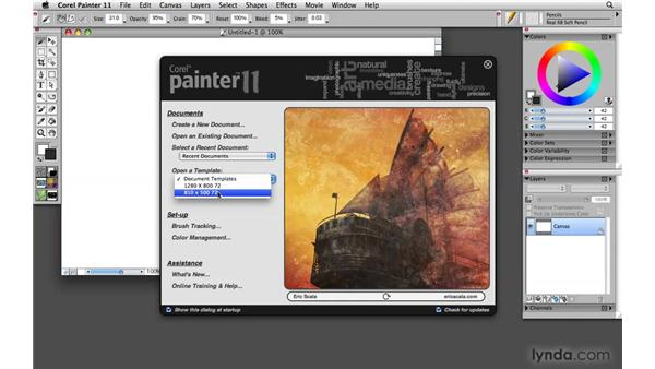 Starting Painter for the first time: Painter 11 Essential Training