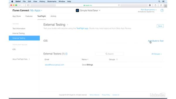 Inviting testers: Distributing Your iOS App for Testing with TestFlight