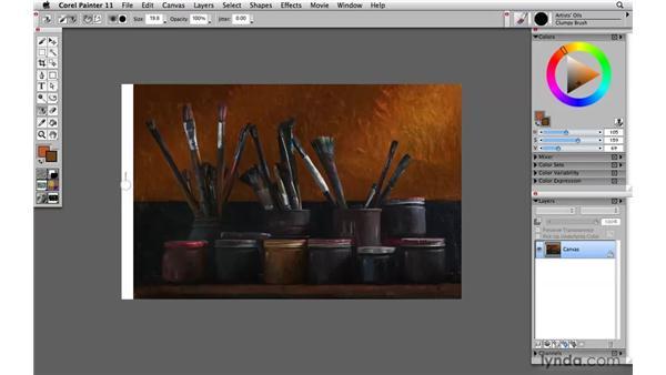 Extending the canvas: Painter 11 Essential Training