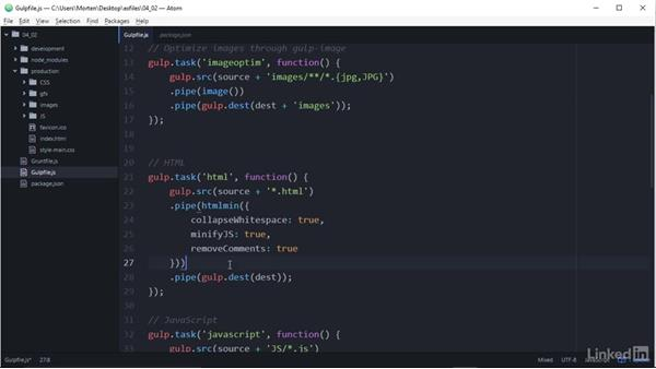 Automated minification of HTML, CSS, and JavaScript: Developing for Performance: HTTP/2