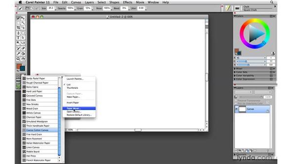 Understanding Tool palette selectors: Painter 11 Essential Training