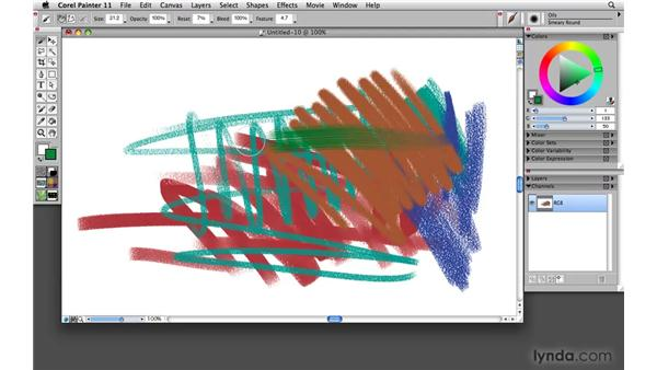 The Brush Selector bar: an art store in a palette: Painter 11 Essential Training