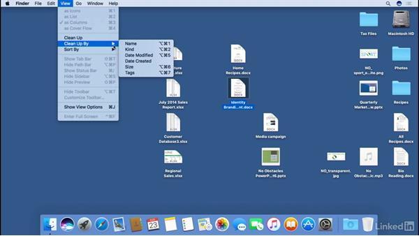 Organizing items on the desktop: macOS Sierra Essential Training