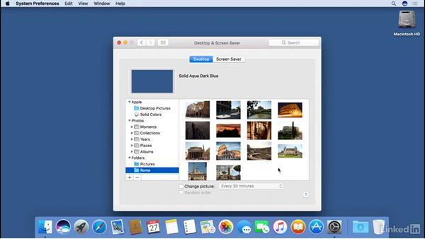 Customizing the desktop wallpaper: macOS Sierra Essential Training
