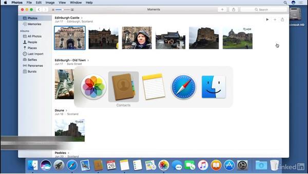 Multitasking between multiple applications : macOS Sierra Essential Training